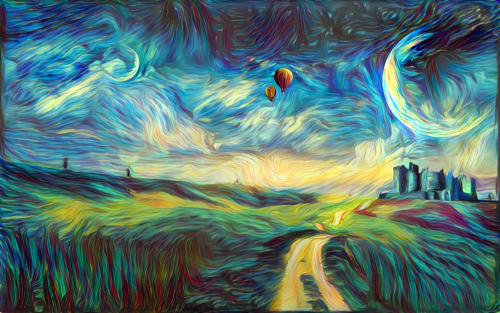 Deep Dream landskap